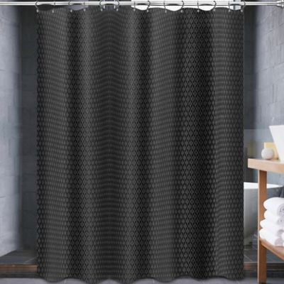 Curtains Ideas black cloth shower curtain : Buy Solid Black Fabric Shower Curtain from Bed Bath & Beyond