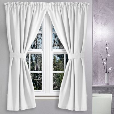 Avalon 36 Inch X 45 Inch Bath Window Curtain Pair In White