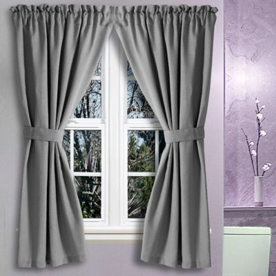 Avalon 36 Inch X 45 Inch Bath Window Curtain Pair In Grey