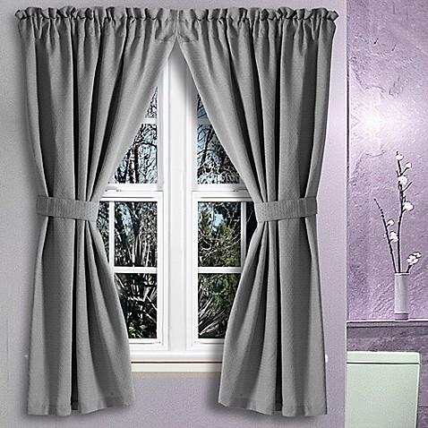 Avalon 36 Inch X 45 Inch Bath Window Curtain Pair Bed