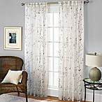Willow Print Pinch Pleat 95-Inch Sheer Window Curtain Panel