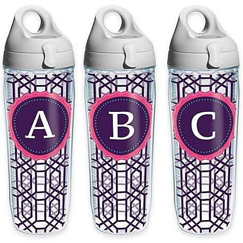 Tervis® Octagon Monogram Initial 24 oz. Water Bottle