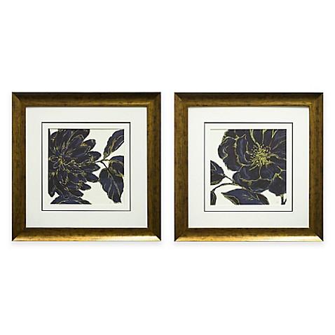 indigo garden framed wall art bed bath beyond. Black Bedroom Furniture Sets. Home Design Ideas
