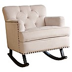 Abbyson Living® Thatcher Nursery Rocker with Nailhead Trim in Ivory