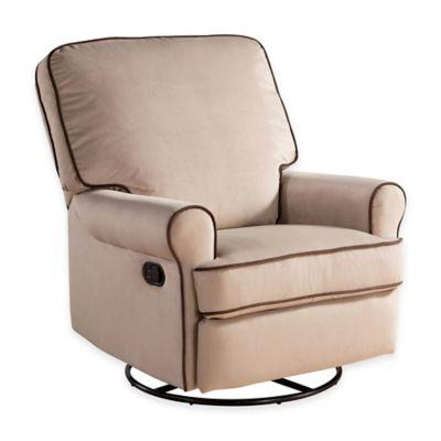 upholstered u003e abbyson living bryant nursery swivel glider recliner in sand - Nursery Glider Recliner