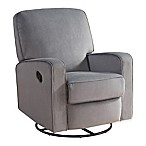 Abbyson Living® Ashlyn Nursery Swivel Glider Recliner in Light Grey
