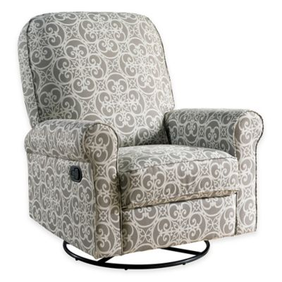 Abbyson Living® Penelope Nursery Swivel Glider Recliner in Grey  sc 1 st  Bed Bath \u0026 Beyond : bed bath and beyond recliner - islam-shia.org