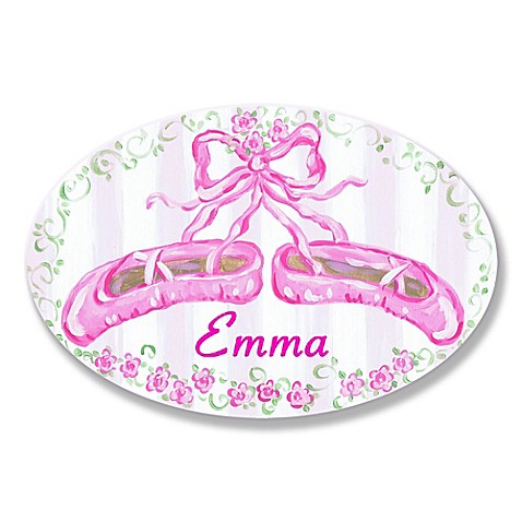 Stupell ballet slippers oval wall art buybuy baby - Oval wall decor ...