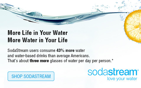 More life in your water, more water in your life - shop sodastream