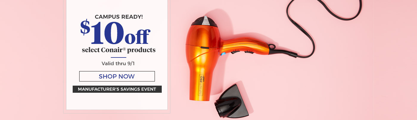 $10 off Select Conair products