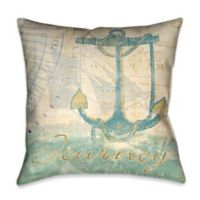 Laural Home® Mariner's Sentiment III Square Throw Pillow