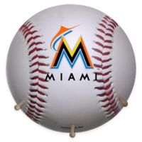 MLB Miami Marlins Team Logo Baseball Coat Rack
