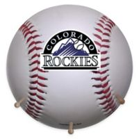 MLB Colorado Rockies Team Logo Baseball Coat Rack