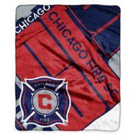 MLS Chicago Fire Super-Plush Raschel Throw Blanket