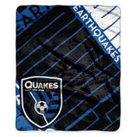 MLS San Jose Earthquakes Super-Plush Raschel Throw Blanket