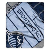 MLS Sporting Kansas City Super-Plush Raschel Throw Blanket