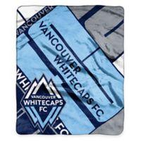 MLS Vancouver Whitecaps Super-Plush Raschel Throw Blanket