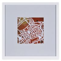 Watercolor Map Framed Wall Art in Red