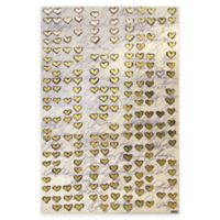 Gold Hearts Canvas Wall Art