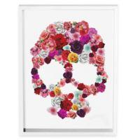 Bed of Roses Skull Wall Art