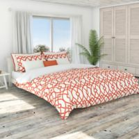 Colorfly™ Piper Full/Queen Duvet Cover Set in Coral