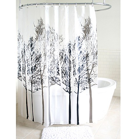 Forest Peva Shower Curtain In Grey Bed Bath Beyond