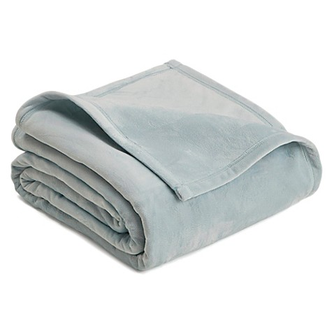 Buy vellux king plush blanket in mist from bed bath beyond for Vellux blanket