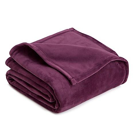 Buy vellux full queen plush blanket in prune from bed bath for Vellux blanket