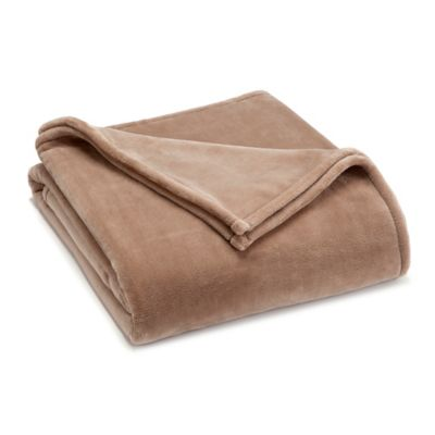 Buy madison park twin dream soft blanket in taupe from bed for Vellux blanket