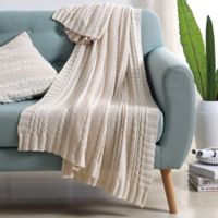 Abode Dublin Knit Throw in Ivory