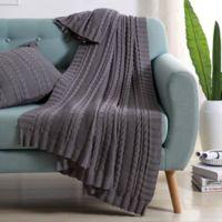 Abode Dublin Knit Throw in Grey