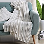VCNY Abode Dublin Knit Throw Blanket in White