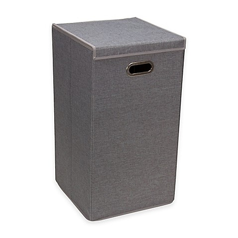 Household Essentials 174 Collapsible Laundry Hamper In Grey