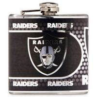 NFL Oakland Raiders Stainless Steel Metallic Hip Flask