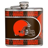 NFL Cleveland Browns Stainless Steel Metallic Hip Flask