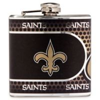 NFL New Orleans Saints Stainless Steel Metallic Hip Flask