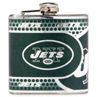 NFL New York Jets Stainless Steel Metallic Hip Flask