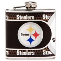 NFL Pittsburgh Steelers Stainless Steel Metallic Hip Flask
