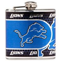 NFL Detroit Lions Stainless Steel Metallic Hip Flask