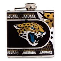 NFL Jacksonville Jaguars Stainless Steel Metallic Hip Flask