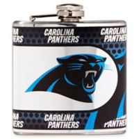 NFL Carolina Panthers Stainless Steel Metallic Hip Flask