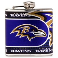 NFL Baltimore Ravens Stainless Steel Metallic Hip Flask