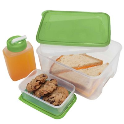 Oggi™ Chill To Go 7 Piece Food Container Set In Green