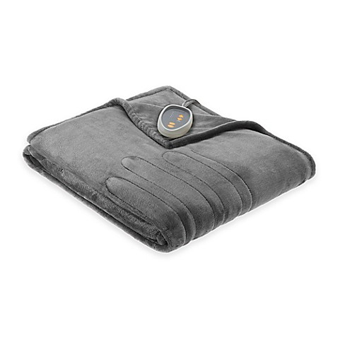 Beautyrest Ogee Oversized Heated Throw Bed Bath Amp Beyond