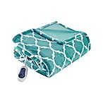 Beautyrest Ogee Oversized Heated Throw in Aqua