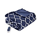 Beautyrest Ogee Oversized Heated Throw in Indigo