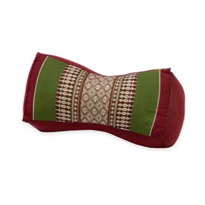my zen home bone yoga bolster pillow in armyred