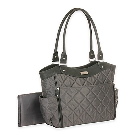 carter's® Drop Front Quilted Diaper Bag in Grey - buybuy BABY : quilted diaper bags - Adamdwight.com
