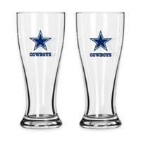 NFL Dallas Cowboys Mini Pilsner Glass (Set of 2)