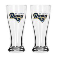 NFL St. Louis Rams Mini Pilsner Glass (Set of 2)